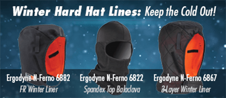 Winter Hard Hat Lines: Keep the cold out!