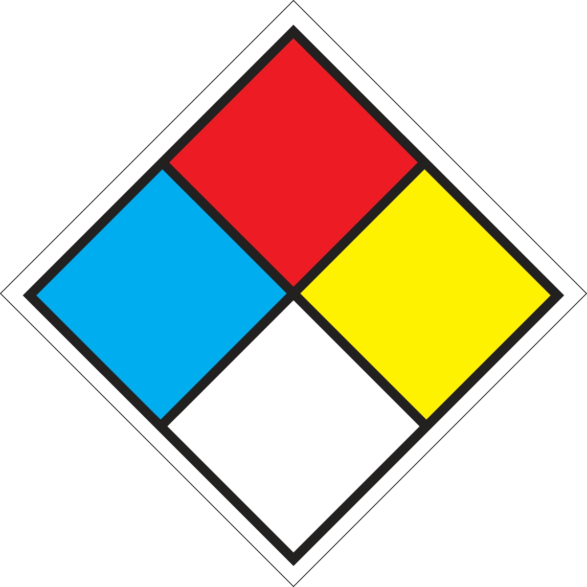 Nfpa Safety Placard 24 Quot Diamond Verona Safety Supply