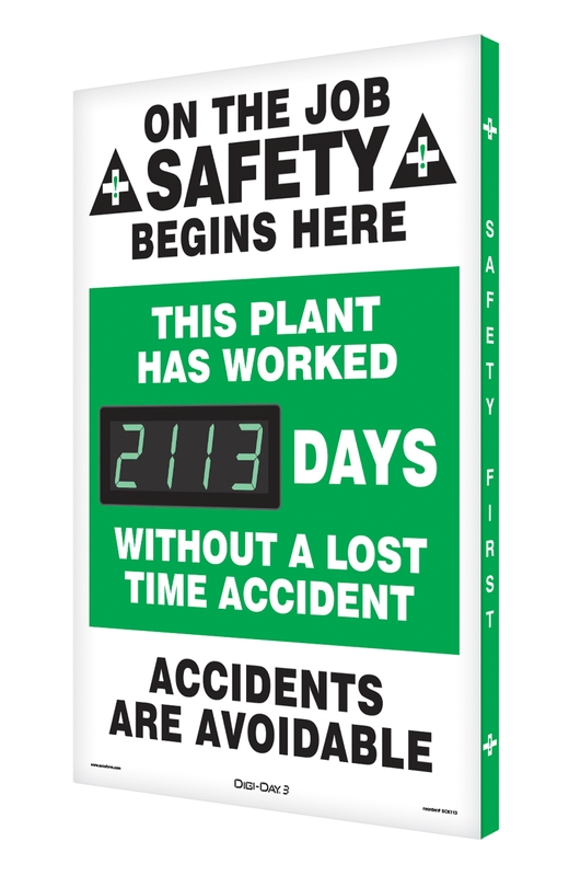 Digi-Day® 3 Electronic Safety Scoreboards: This Plant Has